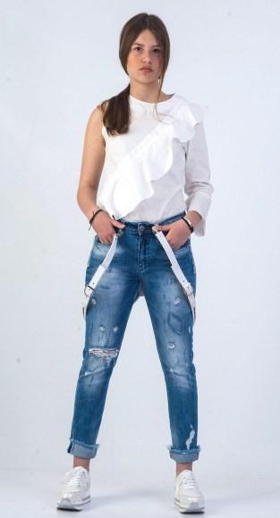 Παντελόνι jean με τιράντες