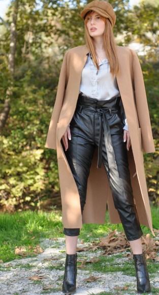Παλτό καμηλό αφοδράριστο μακρύ απαλό